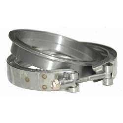 Stainless Diesel S400 Compressor Outlet Flange w/O-Ring & Clamp