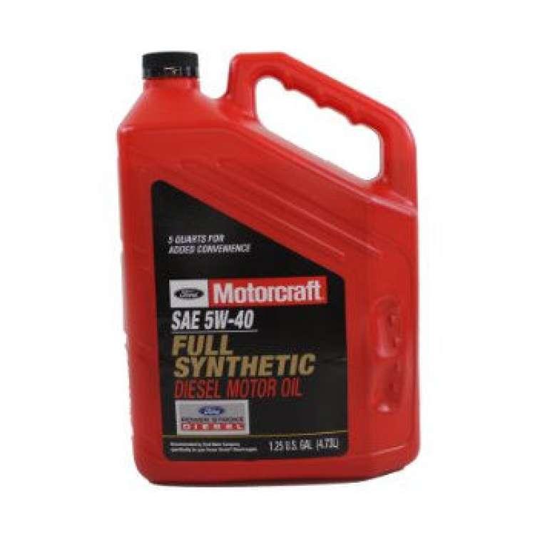 Motorcraft 5W40 Diesel Full Synthetic Motor Oil - 5 Quart Jug