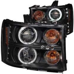 07-13 GMC Sierra 1500-3500 Anzo Projector Headlights Halo Black Clear (CCFL)