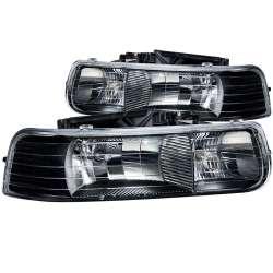 99-02 Chevy Silverado 1500/2500 Anzo Crystal Headlights Black