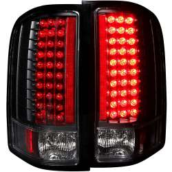 07-13 Chevy Silverado 1500-3500 Anzo L.E.D Tail Lights Black