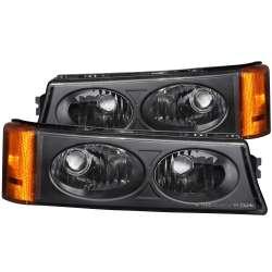 03-06 Chevy Silverado 1500-3500 Anzo Euro Parking/Signal Lights Black Amber