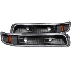99-02 Chevy Silverado 1500/2500 Anzo Parking/Signal Lights Euro Black Amber