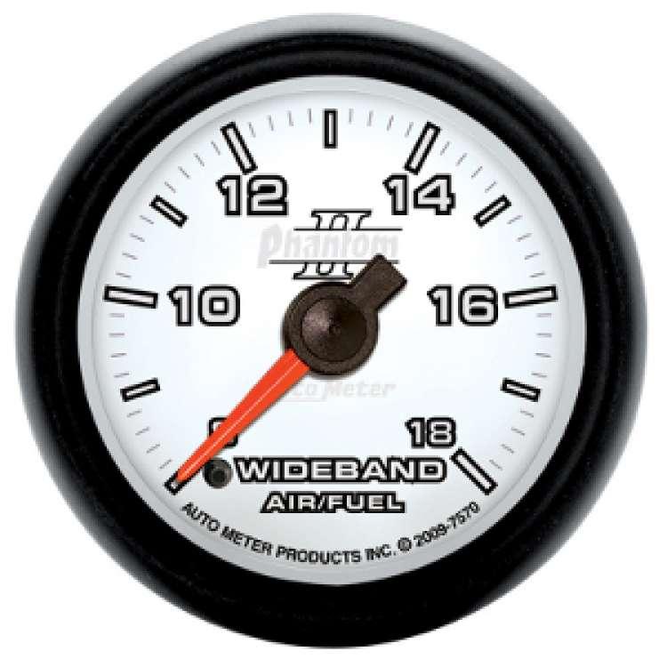 Phantom II 8:1-18:1 AFR Analog Wideband Air/Fuel Ratio Gauge 7570