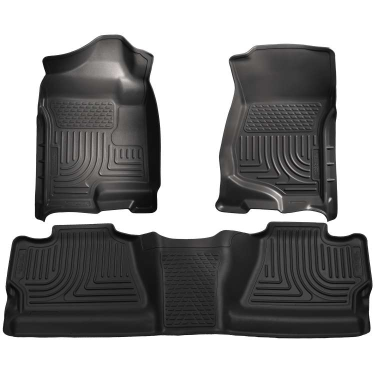 07.5-14 GM Silverado/Sierra HD Crew Cab Husky WeatherBeater Floor Liner Set