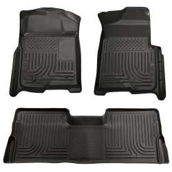 08-10 Ford Superduty Crew Cab Husky WeatherBeater Floor Liner Set