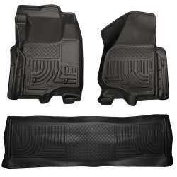 11-12 Ford Superduty Crew Cab Husky WeatherBeater Floor Liner Set