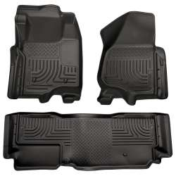 11-12 Ford Superduty Ext. Cab Husky WeatherBeater Floor Liner Set