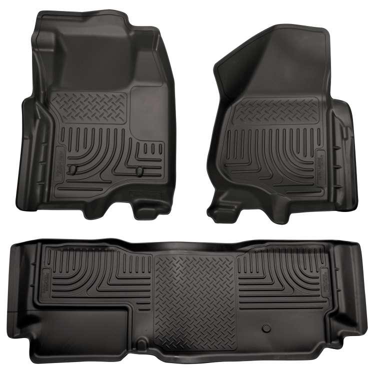 11-12 Ford Superduty Ext. Cab Husky WeatherBeater Floor Liner Set