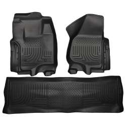 12-15 Ford Superduty Crew Cab Husky WeatherBeater Floor Liner Set