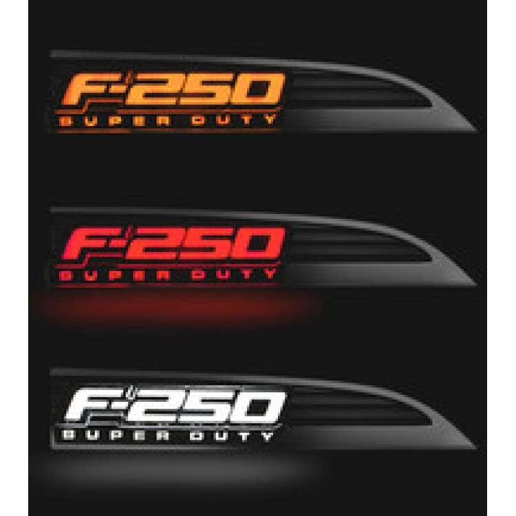 11-16 Ford F-250 RECON LED Illuminated Side Emblems