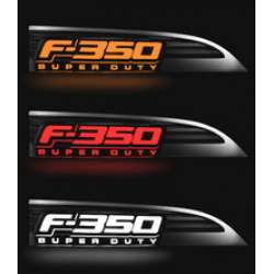 11-16 Ford F-350 RECON LED Illuminated Side Emblems