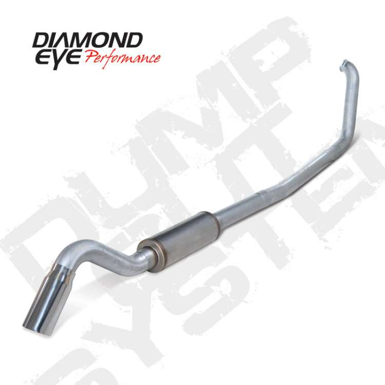 99-03 Ford 7.3L Powerstoke 4 In Aluminized Turbo Back Turn Down Exhaust