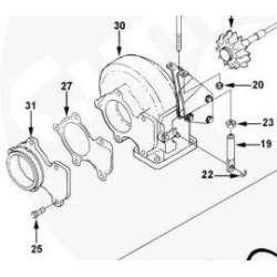 HX35 Turbo 5 Bolt Flange Backing Plate Bolts