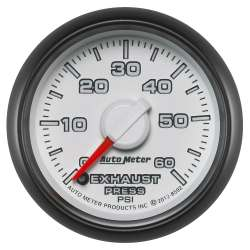 Dodge Factory Match 0-60PSI Exhaust Pressure Gauge