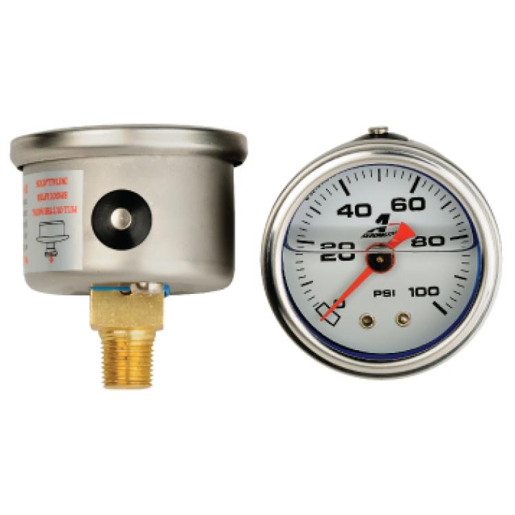 Aeromotive Liquid Filled Fuel Pressure Gauge 0-100 PSI