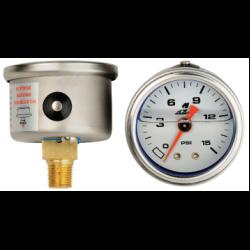Aeromotive Liquid Filled Fuel Pressure Gauge 0-15 PSI