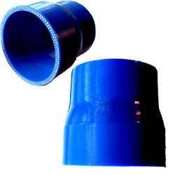 Blue Silicone Reducer, 3.0 In to 2.5 In