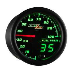 MaxTow Double Vision 100 PSI Fuel Pressure Gauge w/Black Face
