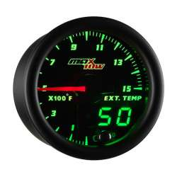 MaxTow Double Vision 1500°F Pyrometer Gauge w/Black Face