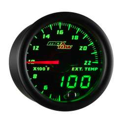 MaxTow Double Vision 2200°F Pyrometer Gauge w/Black Face