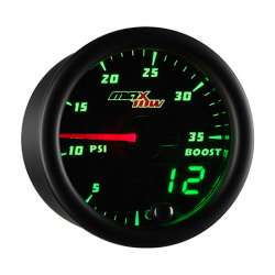 MaxTow Double Vision 35 PSI Boost Gauge w/Black Face