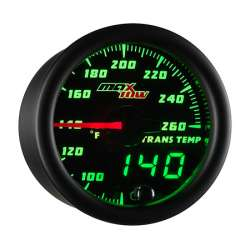 MaxTow Double Vision Transmission Temp Gauge 80-260°F w/Black Face