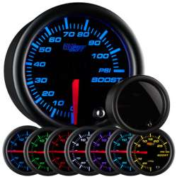 100 PSI 7 Color Tinted Lens Boost Gauge