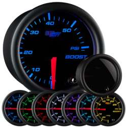 60 PSI 7 Color Tinted Lens Boost Gauge