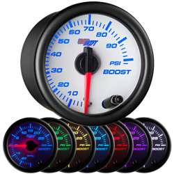100 PSI 7 Color Boost Gauge w/White Face