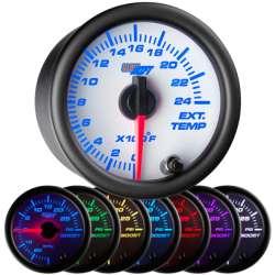 7 Color 30 PSI Fuel Pressure Gauge w/White Face