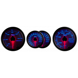 White 7 Color Series Diesel Gauge Set Boost/Pyrometer/Transmission Temp