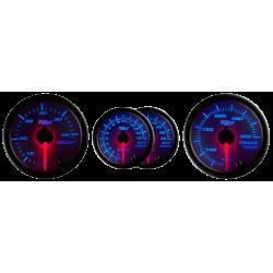 Tinted Lens Series 7 Color Diesel Gauge Set Boost/Pyrometer/Transmission Temp