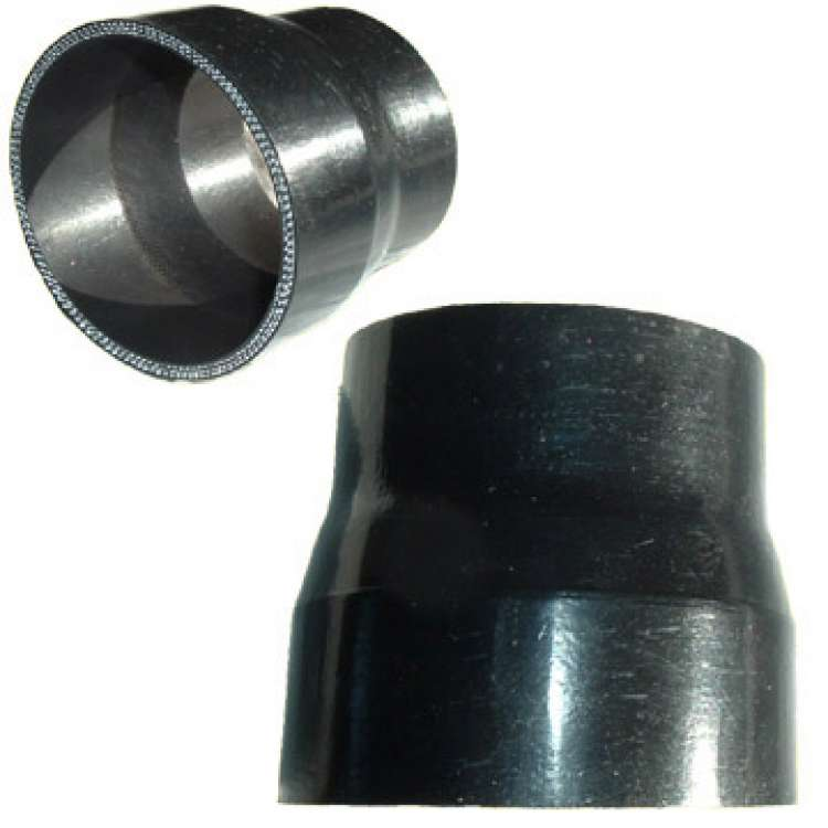 Black Silicone Reducer, 3.5 In to 3.0 In