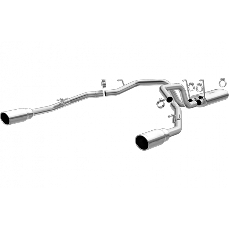 14-16 Ram 3.0L EcoDiesel 2.5 In Performance Series Dual Cat-Back Stainless Exhaust