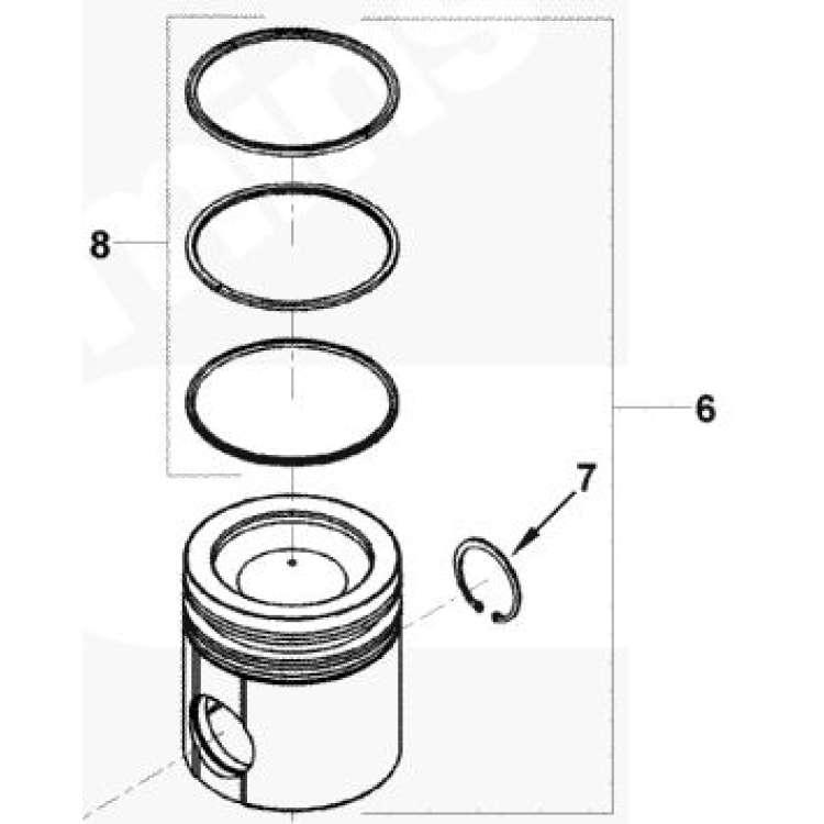 07.5-15 Dodge 6.7L Cummins McBee Piston Ring Set