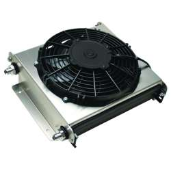 Derale 15870 40 Row Hyper-Cool Extreme Remote Transmission Cooler -8AN