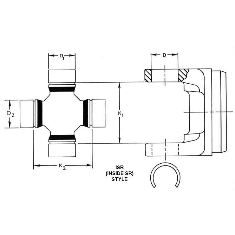 10-19 Ram 2500/3500 Spicer Steering U-Joint