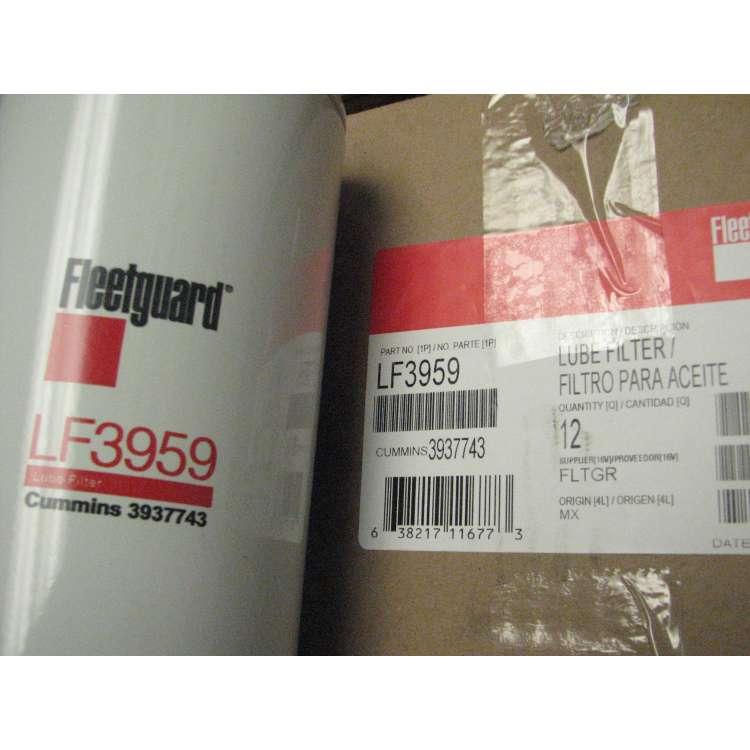 89-02 Dodge 5.9L Cummins Fleetguard LF3959 Oil Filter 12 Pack Case