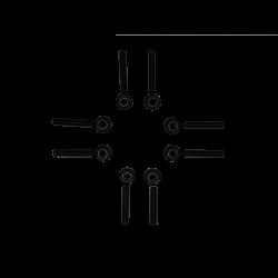 3.9L 4BT Cummins Exhaust Manifold Stud Kit