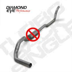 89-93 Dodge 5.9L Cummins 2WD Diamond Eye Turbo Back NO MUFFLER 4 Inch Stainless Exhaust