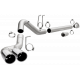 11-19 Ford 6.7L Powerstroke Pro Series Dual Exit DPF Back 4 In Stainless Exhaust