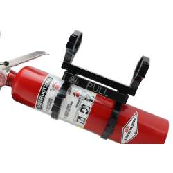 Fire Extinguisher Mount With Extinguisher for 2 In Roll Bar