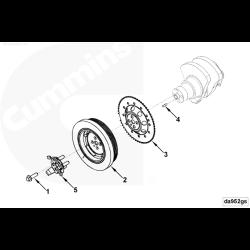 03-07 Dodge 5.9L Chrysler Front Crank Tone Wheel