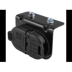Dodge 7 & 4 Pole Trailer Connector Socket w/Mounting Bracket