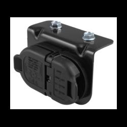 GM 7 & 4 Pole Trailer Connector Socket w/Mounting Bracket