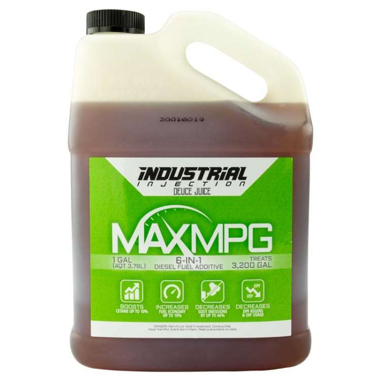 Industrial Injection Gallon of MaxMPG Fuel Additive (All Season) Treats 3200 Gallons