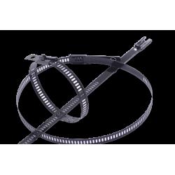 Thermal Zero 14″ Black Positive Locking Snap Strip Stainless Steel Zip Tie Packs