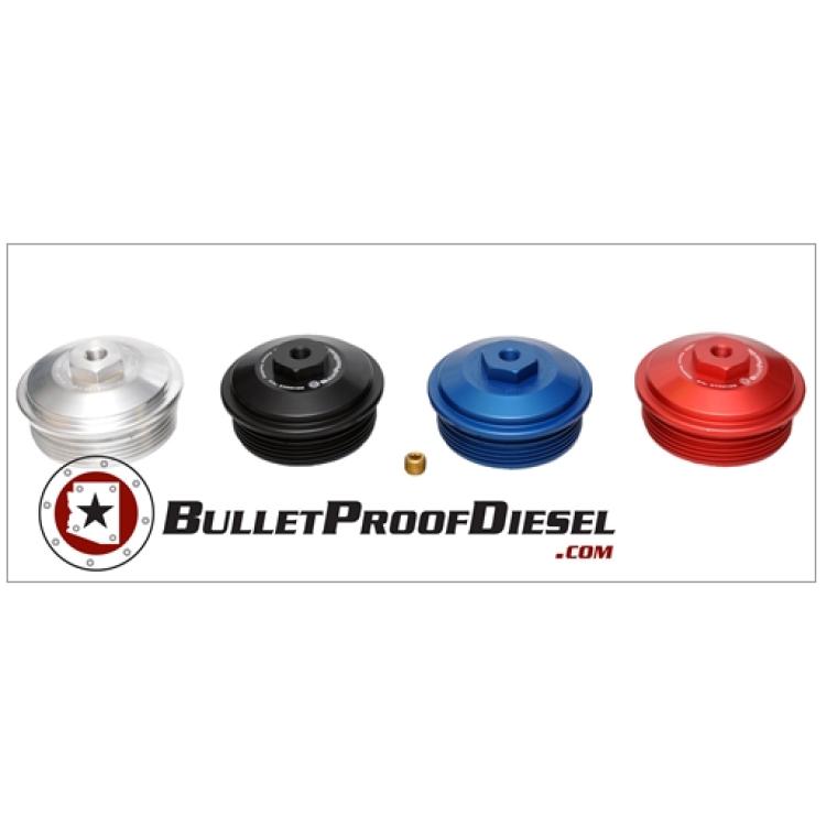 03-07 Ford 6.0L Powerstroke Bullet Proof Diesel Billet Alum Fuel Filter Cap