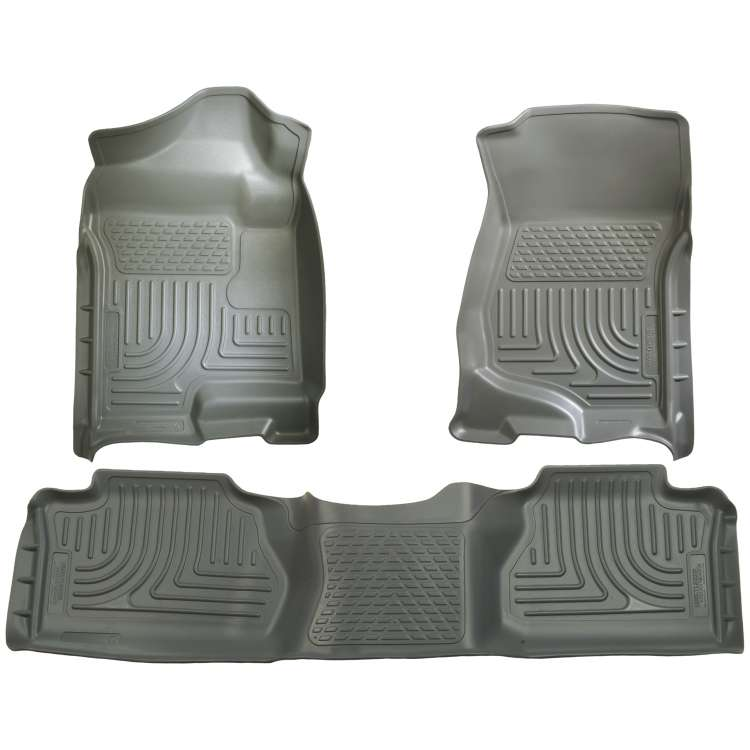 07.5-13 GM Silverado/Sierra HD Ext. Cab Husky WeatherBeater Floor Liner Set